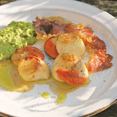 Cook the Book: Scallops with Pea Purée and Ham