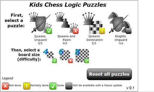 Kids Chess Logic Puzzles