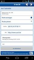 Screenshot of Tankstellen Suche Deutschland