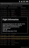 Screenshot of Flight Info Norway