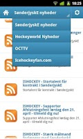 Screenshot of IcehockeyFan News SønderjyskE