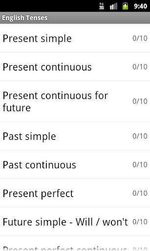 English Tenses 玩教育App免費 玩APPs