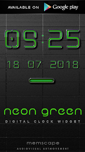 How to install NEON GREEN Laser Clock Widget lastet apk for bluestacks