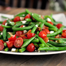 Fresh Green Bean Salad with Balsamic Dressing