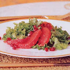 Grapefruit, Mustard Green, and Date Salad