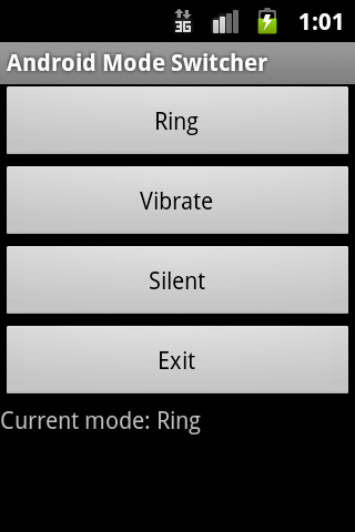 Ring Vibration Silent Switcher