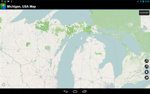 Offline Michigan, USA Map - screenshot
