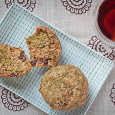 Banana & Green Tea Milk Chocolate Chunk Muffins