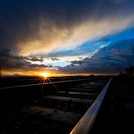 Days End by Jim Malone - Landscapes Sunsets & Sunrises