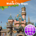 Anaheim and Disnyland Map icon