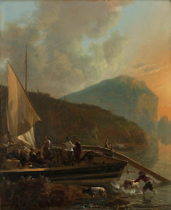 RIJKS: Adam Pijnacker: Italianate River Landscape 1655
