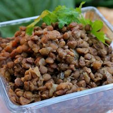 Honey Baked Lentils