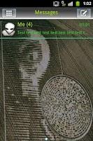Screenshot of GO SMS Theme UFO Alien