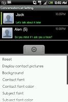 Screenshot of Handcent Font Pack3