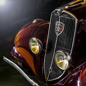 Peugeot by Arti Fakts - Transportation Automobiles ( car, lights, lion, old, calender, chromes, automobile, vehicle, chrome, museum, artifakts, peugeot, , land, device, transportation )