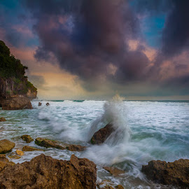 the motion of seruni by Andy R Effendi - Landscapes Waterscapes ( seruni, indonesia, seascape, gunung kidul, beach, jogja )