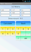 Screenshot of Matrix Determinant Calculator
