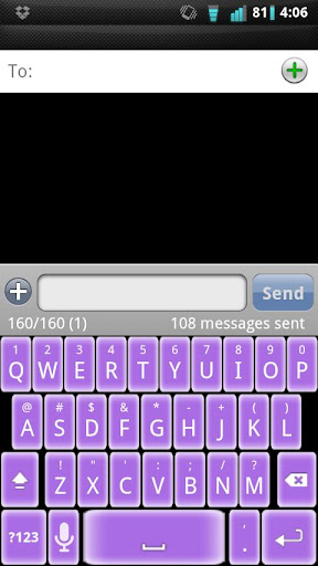 Soft Purple Keyboard Skin