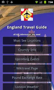 England Travel Guide - screenshot