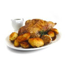 Roast Duck And Potatoes With Honey And Rosemary Jus