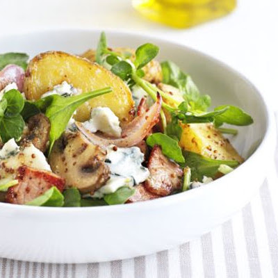 Warm New Potato Salad With Bacon & Blue Cheese