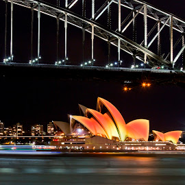 Opera House Diwali by Sachin Wakhare - Buildings & Architecture Public & Historical ( hindustantimes, diwali, landmark, icon, proudphotographer, australia, operahouse, harbourbridge, india )