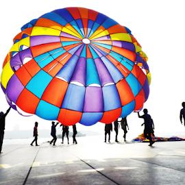 Para Sailing by Imran Haider - Novices Only Sports ( parachute )