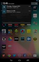 Screenshot of Date in Status Bar Pro