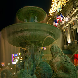 Paris in Las Vegas by Jose Matutina - Buildings & Architecture Other Exteriors ( las vegas, paris, nevada, fountain, casino )