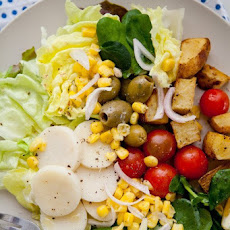 Hearts of Palm, Corn, Tomatoes & Watercress Salad