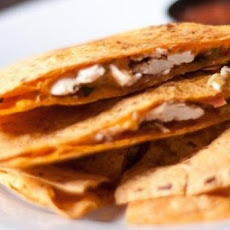 BBQ Chicken and Cheddar Quesadillas