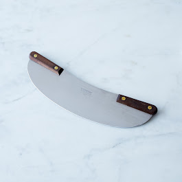 Lamson & Goodnow Walnut Pizza Rocker Knife