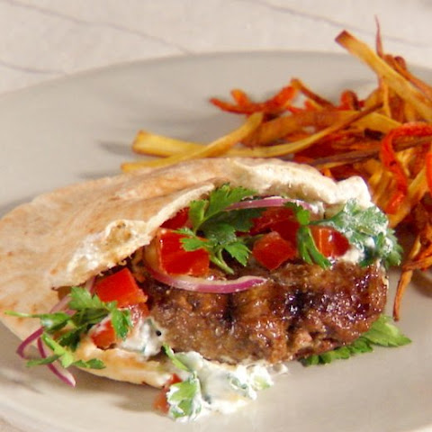 Lamb Burgers with Tzatziki Sauce and Parsley Salad