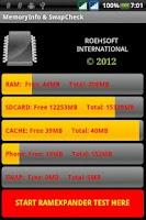 Screenshot of MemoryInfo & Swapfile Check
