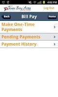 Screenshot of TBACU Mobile Banking