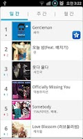 Screenshot of K-Pop Popular Music Chart