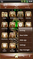 Screenshot of Wood Skull GO launcher EX
