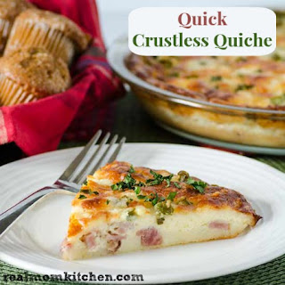 Quick Crustless Quiche