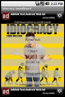 Screenshot of Idiocracy Soundboard