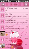 Screenshot of GO SMS Pro Milk Shake Theme