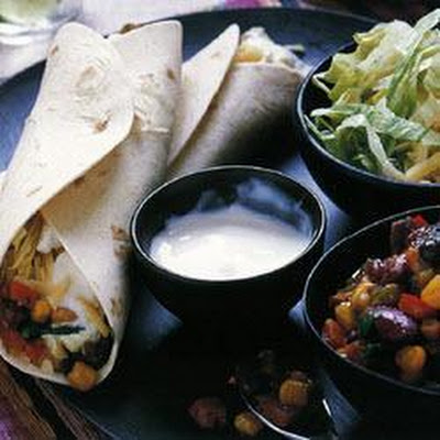Tex-mex Bean Burritos