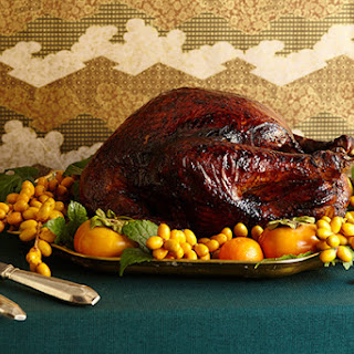 Peking-Style Roast Turkey with Molasses-Soy Glaze and Orange-Ginger Gravy