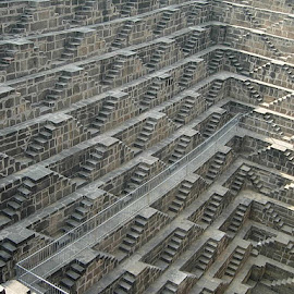 Chand Baori by Edward Grylich - Buildings & Architecture Public & Historical
