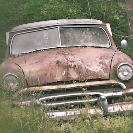 Tilted and Tattered by Wendy Greenhut - Transportation Automobiles