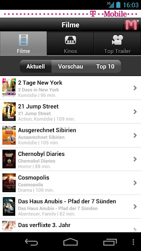 m-kino for android screenshot