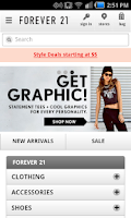 Screenshot of Quick for Forever 21 Shopping