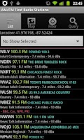 Screenshot of AM/FM Find Radio Stations