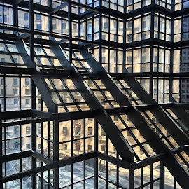 Inside glass structure of the RBC Trading Floor by Thomas Frias III - Buildings & Architecture Office Buildings & Hotels ( rbc )