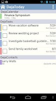 Screenshot of DejaOffice CRM - Outlook sync