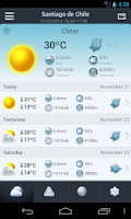 Screenshot of Weather in Chile 14 days